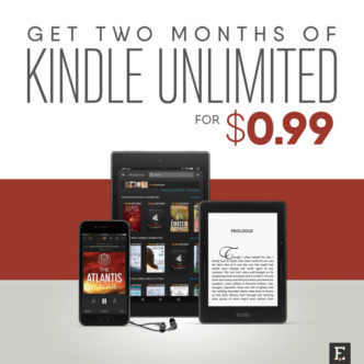 Great deal for National Reading Month 2018 - get two months of Kindle Unlimited ebook subscription for $0.99