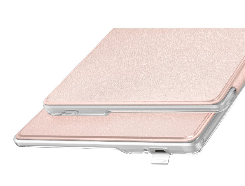 MoKo Kindle Oasis 2 Case has the back made of transparent frosted plastic
