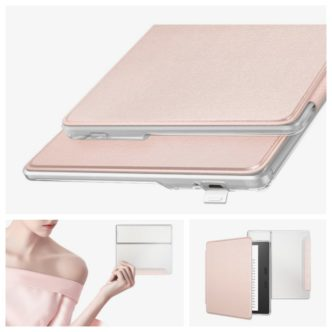 MoKo Slimline Case in Rose Gold - a perfect companion for Champagne Gold Kindle Oasis 2