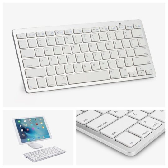 Omoton Ultra-slim Bluetooth Keyboard for iPad - best-rated accessories for iPad to buy in 2018