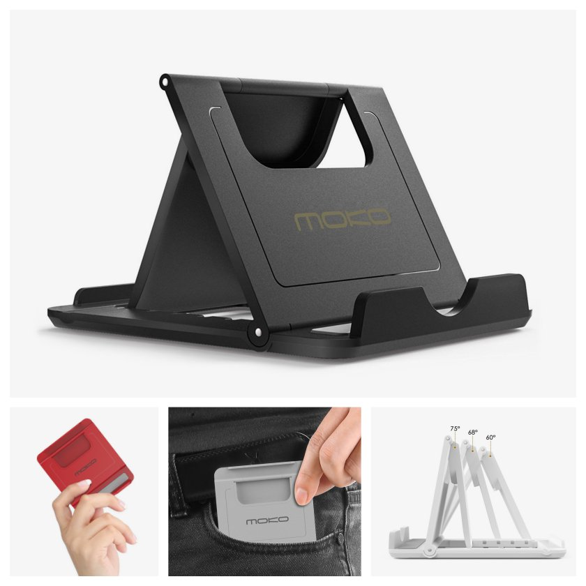 Top iPad stands in 2018 - MoKo Multi-angle Foldable Holder