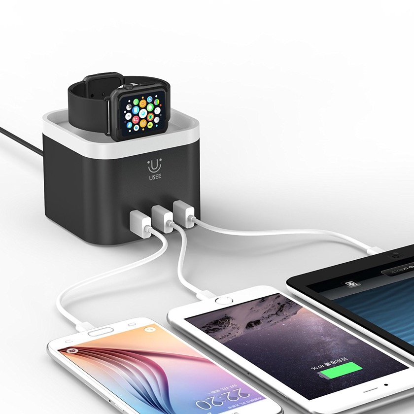 Usee 4-port charging station - best Apple accessories 2018
