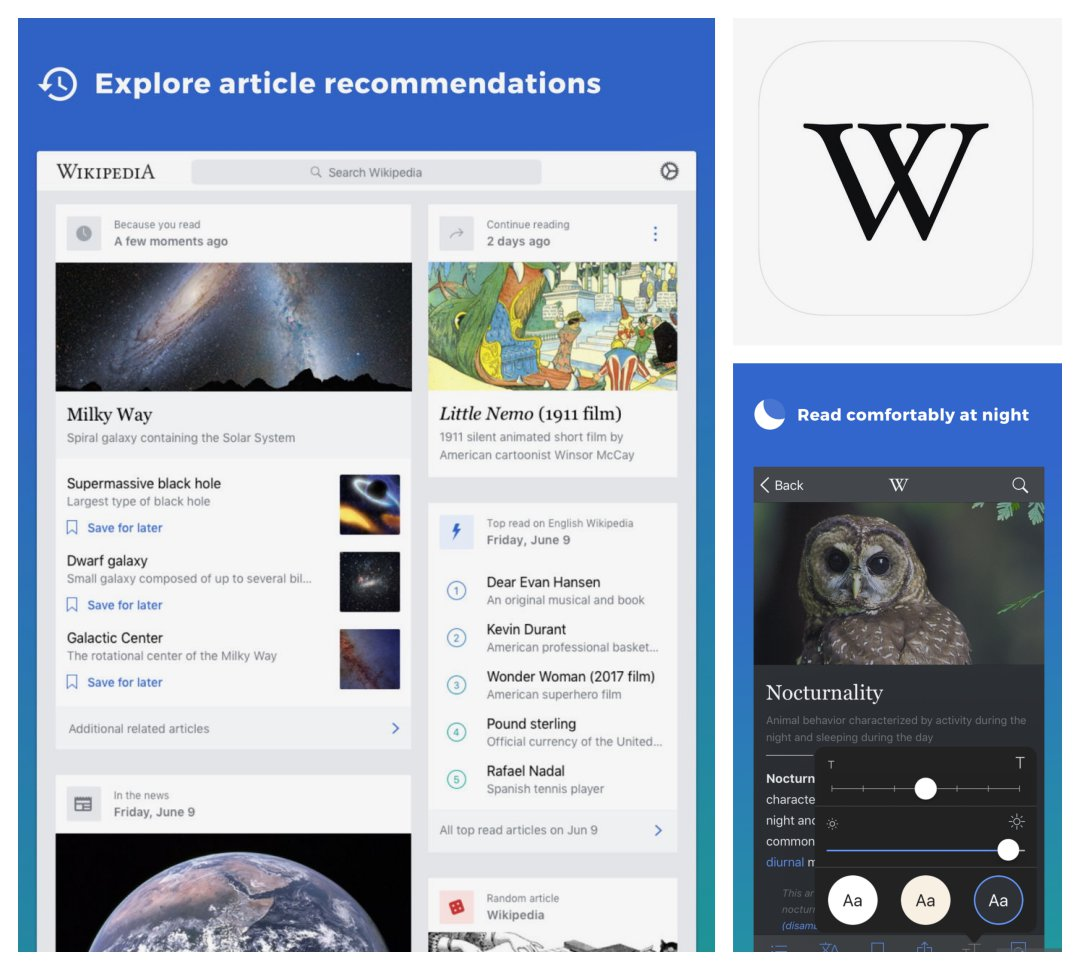 Wikipedia - best reference apps for iPad and iPhone