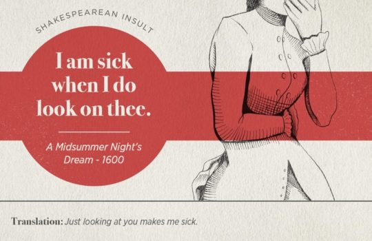 Most famous Shakespearean insults - A Midsummer Night's Dream