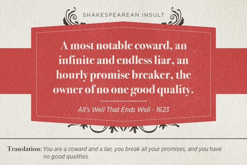 Most famous Shakespearean insults - All's Well That Ends Well