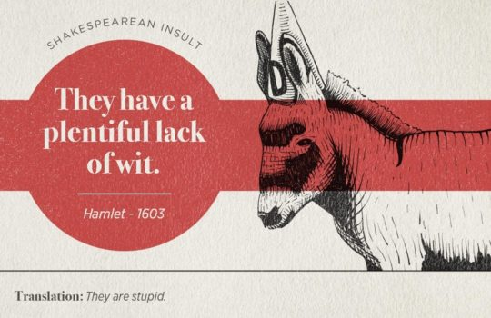 Most famous Shakespearean insults - Hamlet