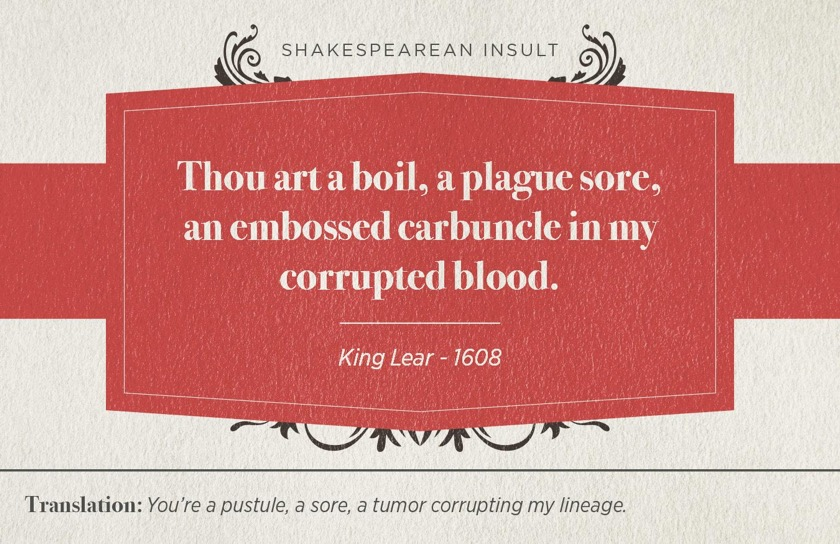 Most famous Shakespearean insults - King Lear