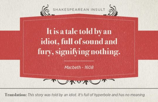 Most famous Shakespearean insults - Macbeth