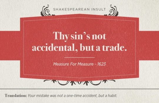 Most famous Shakespearean insults - Measure for Measure