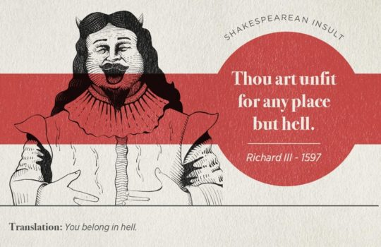 Most famous Shakespearean insults - Richard III