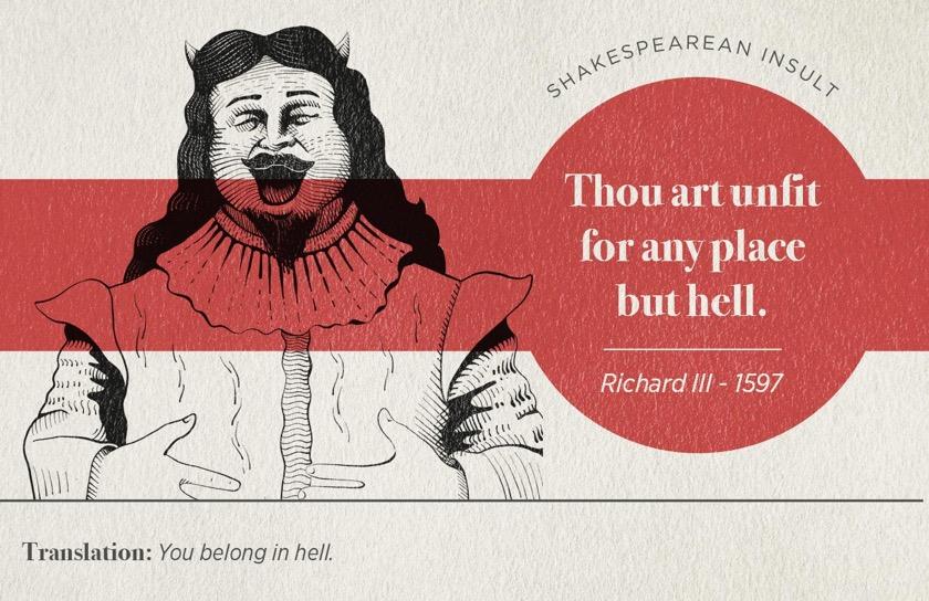 Most famous Shakespearean insults - Richard III