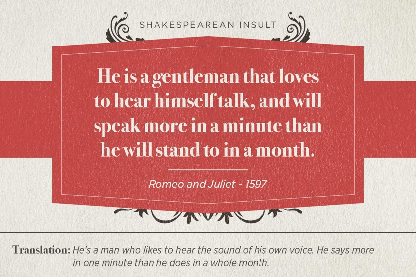 Most famous Shakespearean insults - Romeo and Juliet