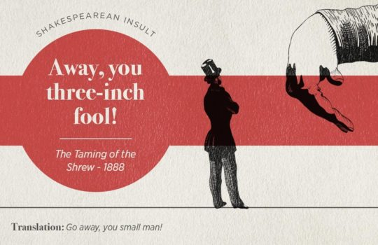 Most famous Shakespearean insults - The Taming of the Shrew