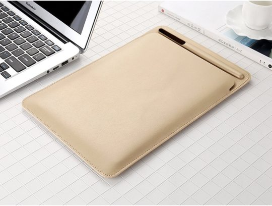 PopSmart Faux Leather Sleeve with Apple Pencil Holder
