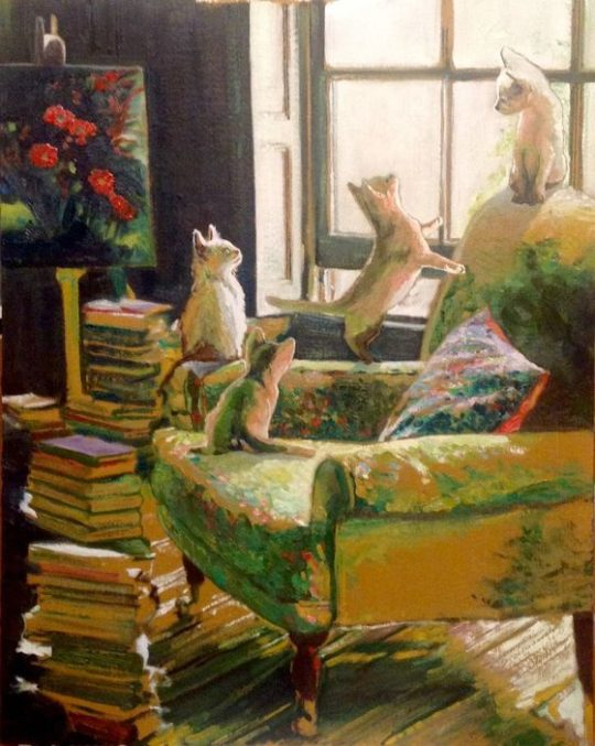 Timothy Adam Matthews - Kittens in a study