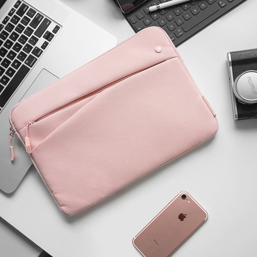 Tomtoc iPad 2018 Multipocket Top-rated Sleeve in Pink