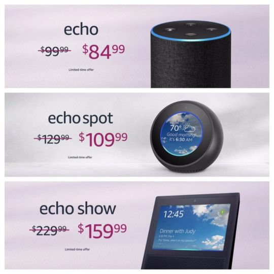 Deals on Echo and Alexa devices - 2018 Mother's Day