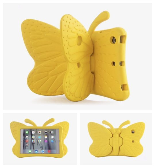 Feitenn 3D Cartoon Butterfly iPad Kid-friendly Case