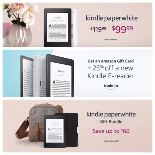 Kindle deals and offers for Mother's Day 2018