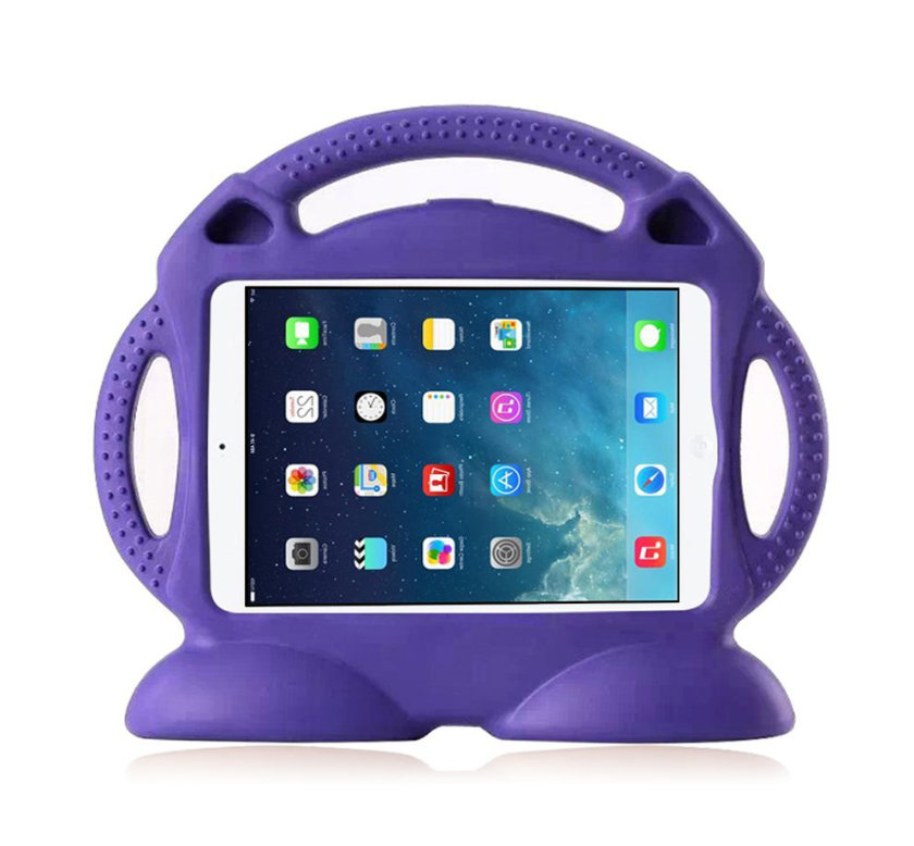 Lioeo kid-friendly shock and dust proof protective case for iPad comes with three handles