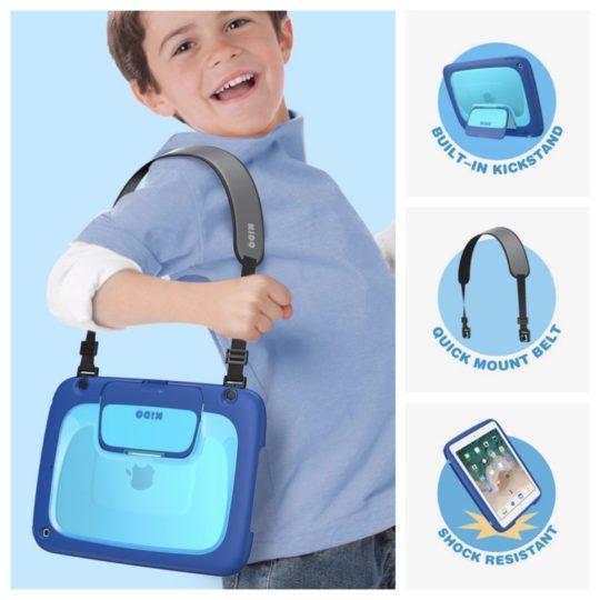 Mumba Kido Series iPad Case with kickstand and shoulder strap