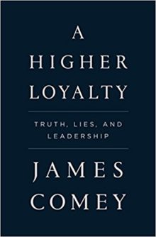 A Higher Loyalty by James Comey takes the 3rd place on a list of Amazon bestsellers of 2018 so far