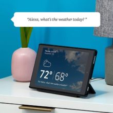 Amazon Fire tablet with Show Mode can provide similar video responses as Echo Show