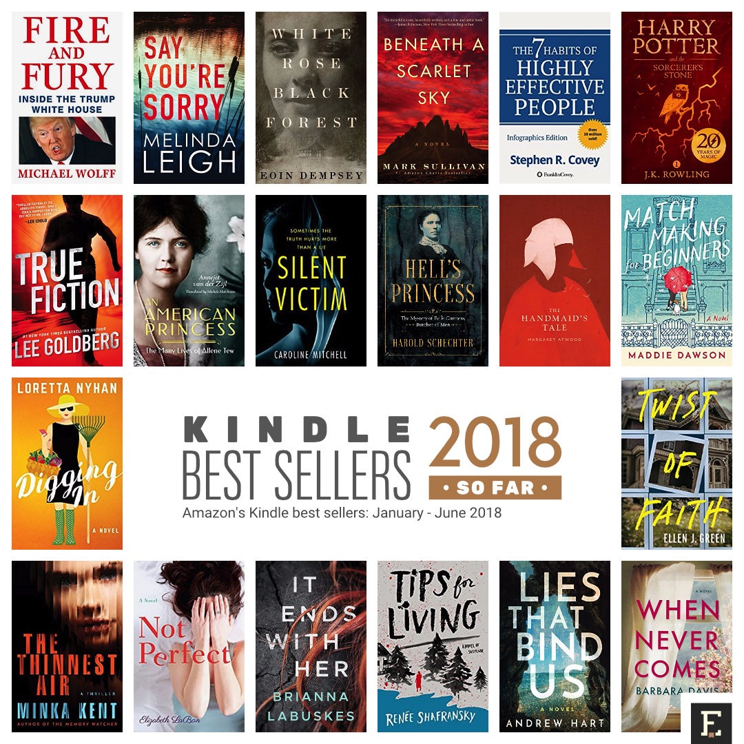 Amazon Kindle best selling books of 2018 so far