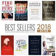 Amazon's best selling print and Kindle books of 2018 so far
