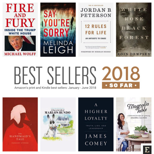 Amazons best selling print and kindle books of 2018 so far fandeluxe Images