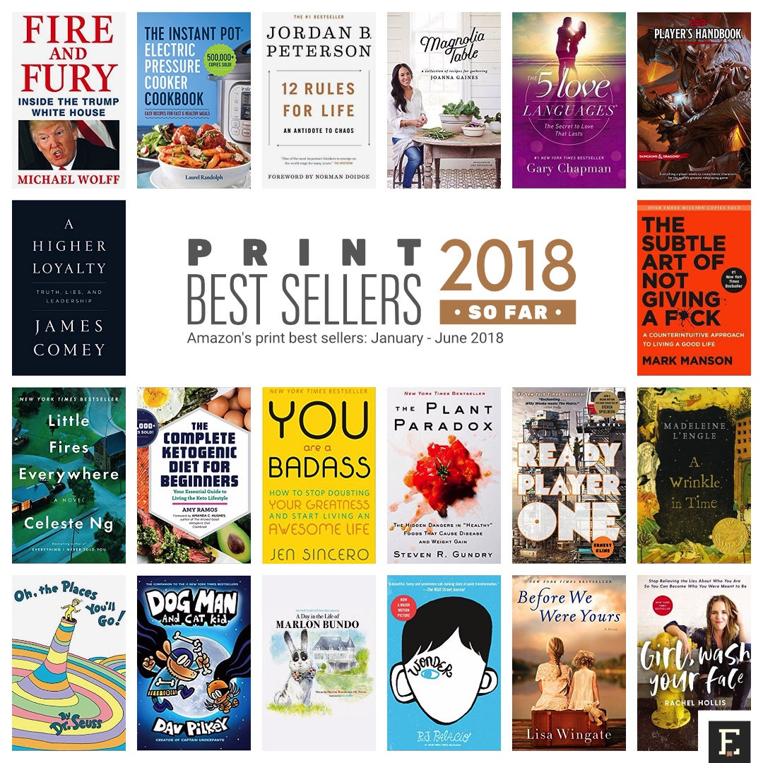 Amazon print best selling books of 2018 so far