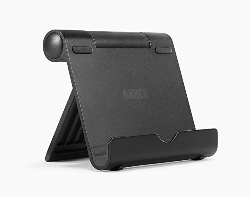 Best tablet stands - Anker portable adjustable stand for iPad Amazon Fire and other tablets and smartphones
