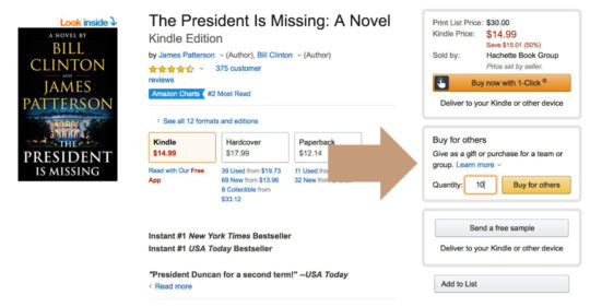 Buy a single Kindle book for multiple recipients