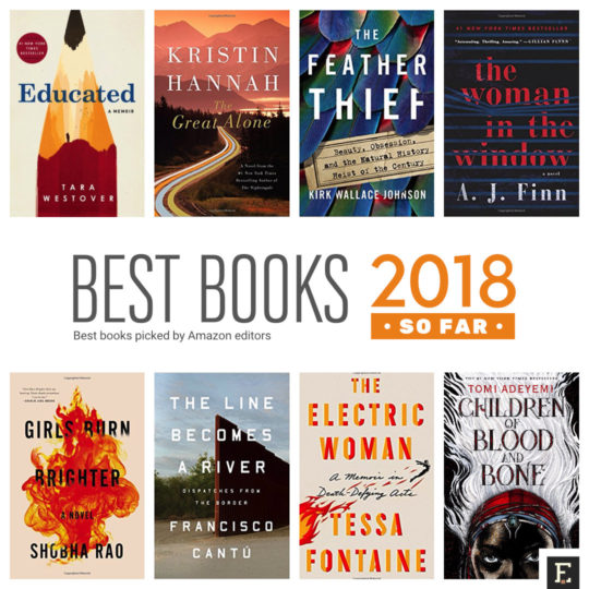 Amazon Reveals Top 20 Picks For The Best Book Of 2018 So Far