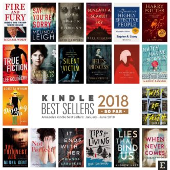 Top 20 bestselling Kindle books of 2018 so far