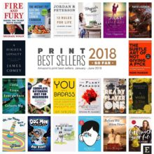 Top 20 bestselling print books of 2018 so far