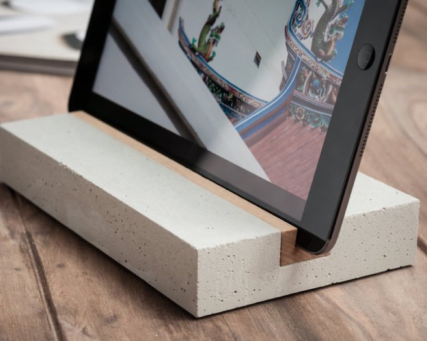 Trimborn Concrete and Wood Tablet Stand