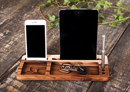 Wood Shade Personalized Desk Organizer Stand