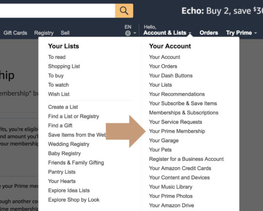 Cancel Amazon Prime - edit your Prime membership settings
