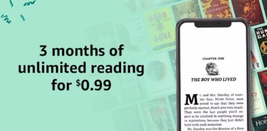 Prime Day 2018 deal on Kindle Unlimited - get 3 months of subscription for 0.99