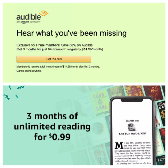 Prime Day 2018 deals on Audible and Kindle Unlimited