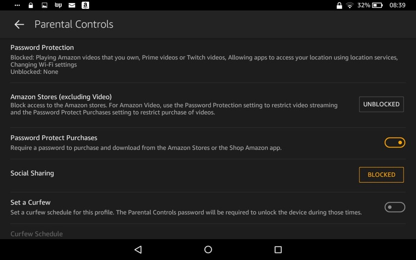Advanced parental controls make Amazon Fire a perfect device for the entire family