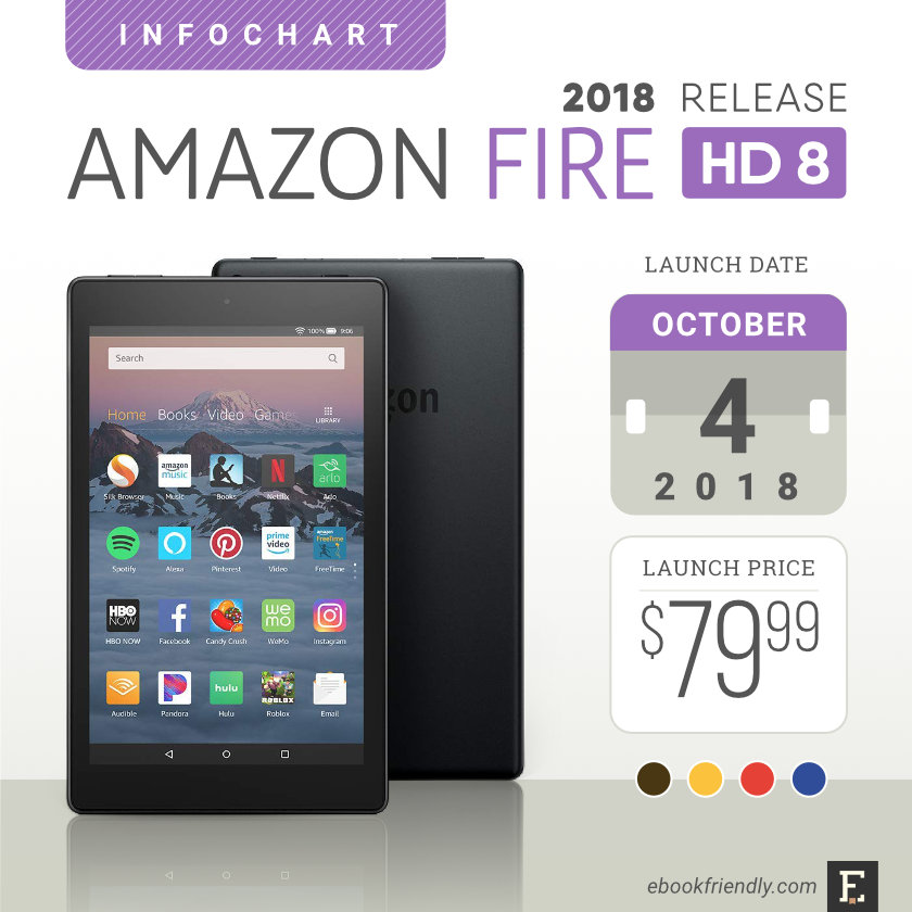 amazon fire hd 8 2018 tablet full specs comparisons. Black Bedroom Furniture Sets. Home Design Ideas