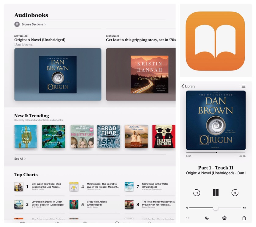 Apple Books app was redesigned in September 2018