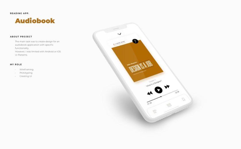 Audiobook app concept by Anna Yarovenko - image 1