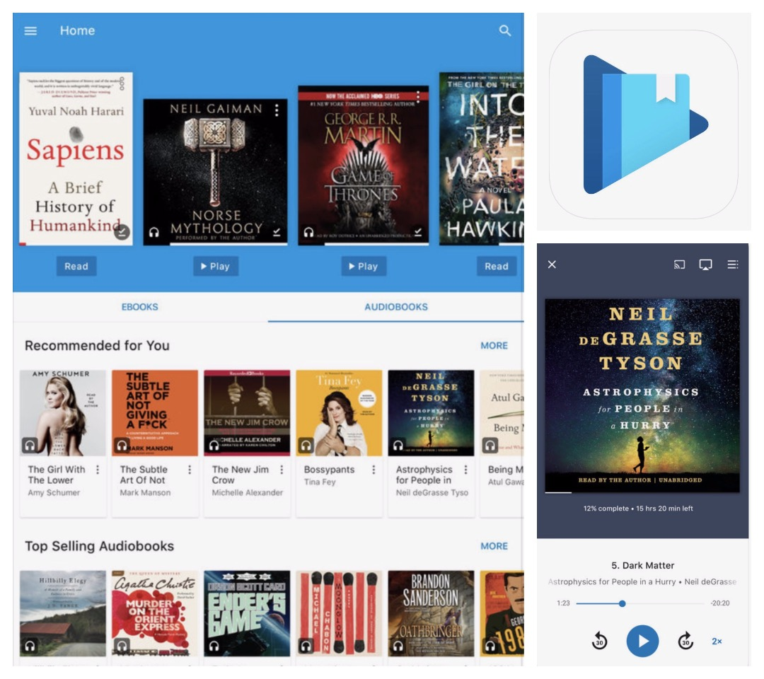 Audiobook player apps for iPad and iPhone - Google Play Books