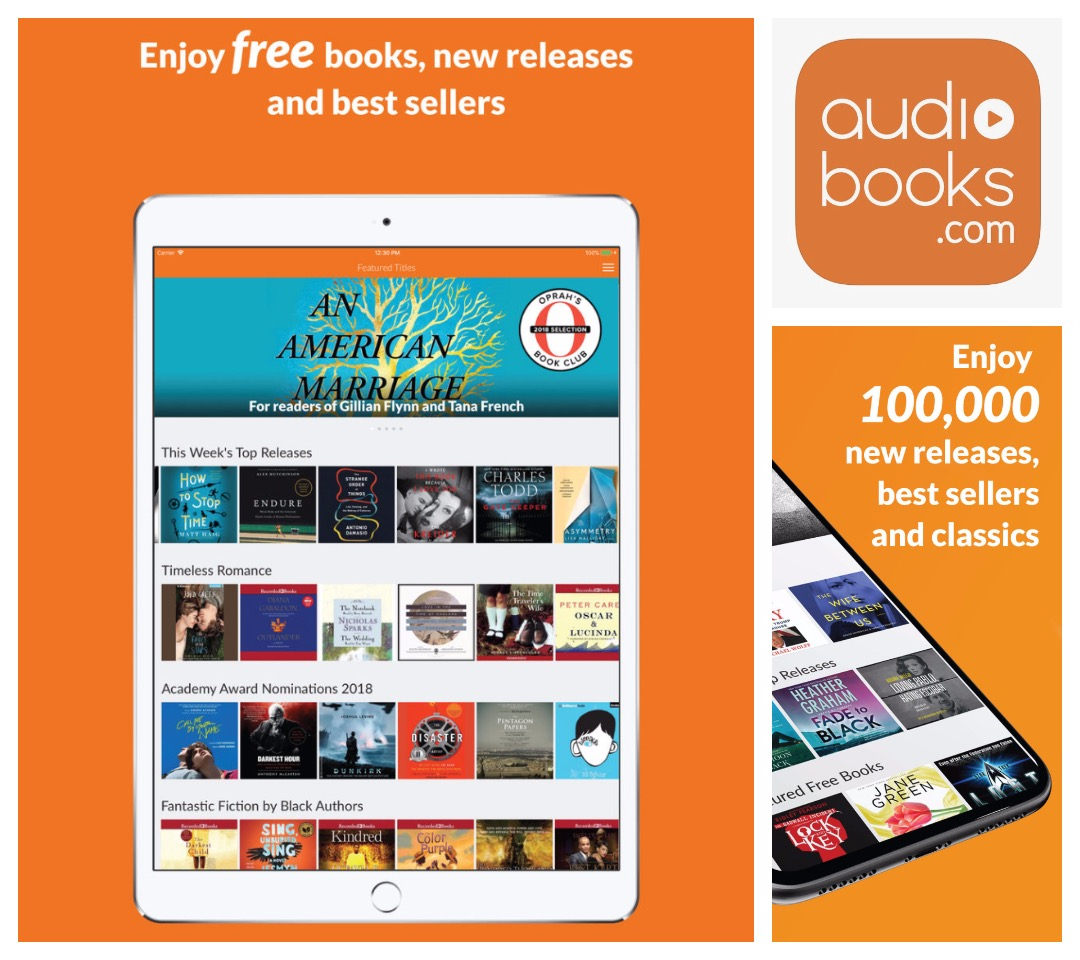Audiobook player for iOS - Audiobooks com - compatible with iPhone iPad and Apple Watch