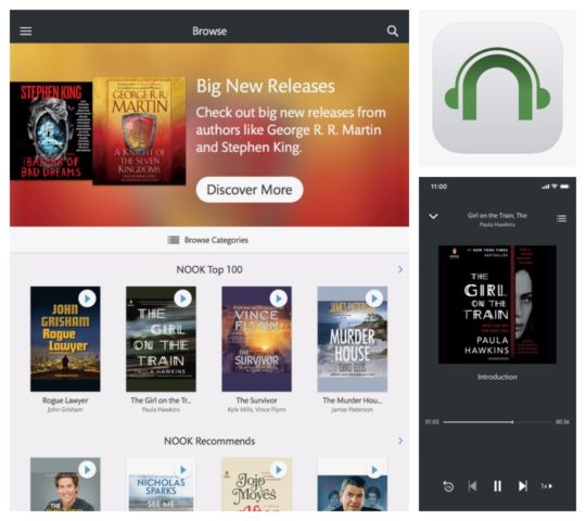 Audiobook players for iOS - Nook audiobooks