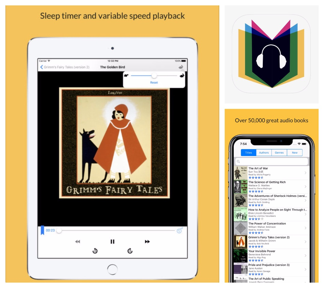 Audiobooks for iPhone and iPad - LibriVox app with 50 thousand free audiobooks