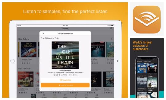 Best audiobook players for iOS - Audible for iPad and iPhone